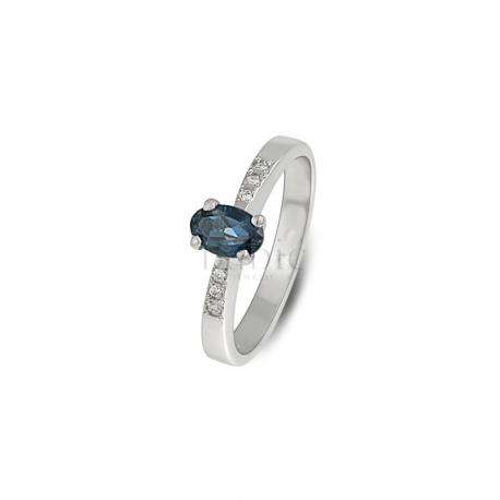 London blue topaz - verenički prsten - VPK63